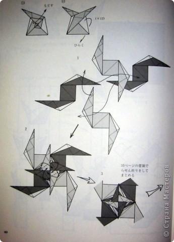 Кусудама: Спиральная кусудама (схема) фото 4