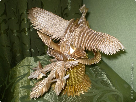 Феникс из модульного оригами