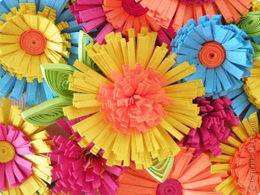 Квиллинг: Корзина с цветами фото 5