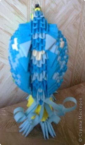 Оригами модульное: Попугайчики) фото 4