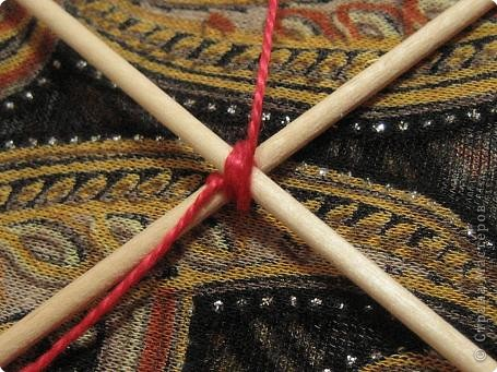 Мастер-класс Поделка изделие Плетение Радужная мандала Пряжа фото 5