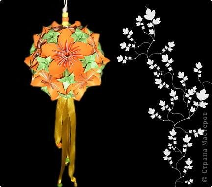 Кусудама: цветочная  кусудама фото 1