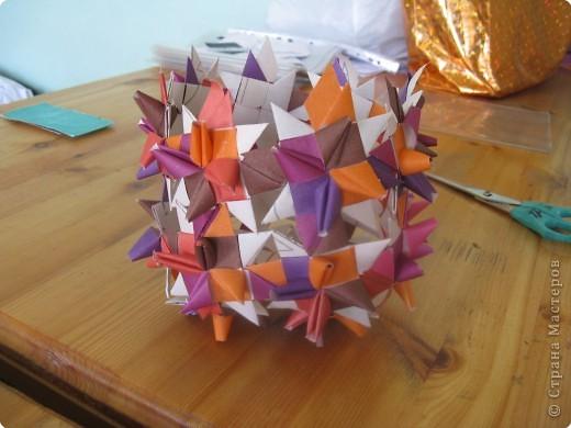 Корзиночка из бумажных цветов Плетение.
