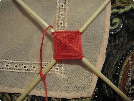 Мастер-класс Поделка изделие Плетение Радужная мандала Пряжа фото 7