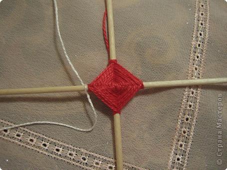 Мастер-класс Поделка изделие Плетение Радужная мандала Пряжа фото 8