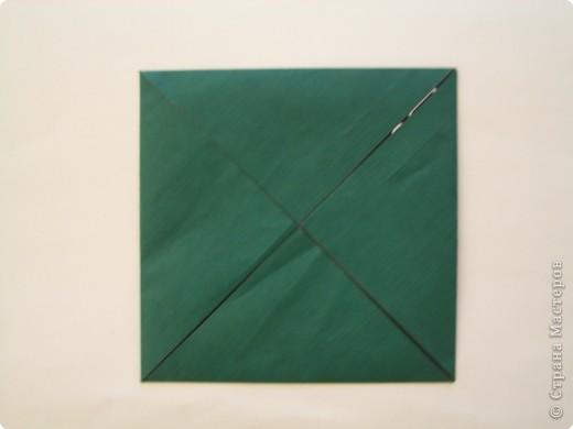 """Оригами: Описание работы """"Красный цеток в рамке"""" фото 2"""