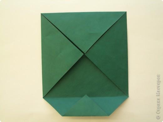 """Оригами: Описание работы """"Красный цеток в рамке"""" фото 3"""