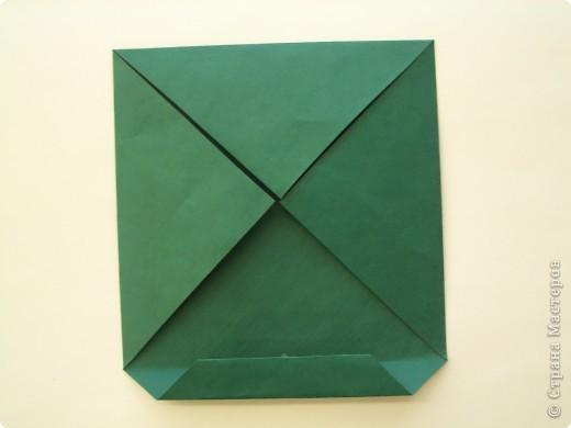 """Оригами: Описание работы """"Красный цеток в рамке"""" фото 4"""
