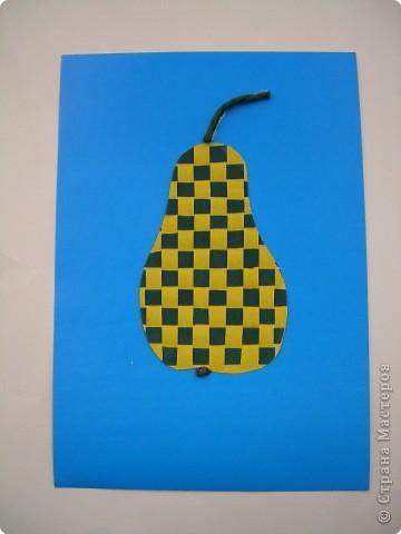 Полотняное плетение. Ягоды и фрукты. фото 1