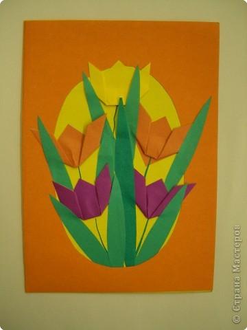 Аппликация, Оригами, Плетение: Открытки. фото 1