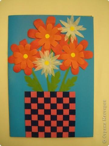Аппликация, Оригами, Плетение: Открытки. фото 3