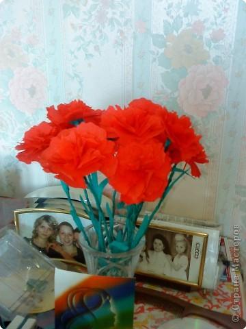 На демонстрации знакомые не сразу распознали, что это не живые цветы... Было забавно...   фото 1