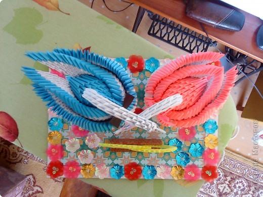 Оригами модульное: Подарок на свадьбу фото 2