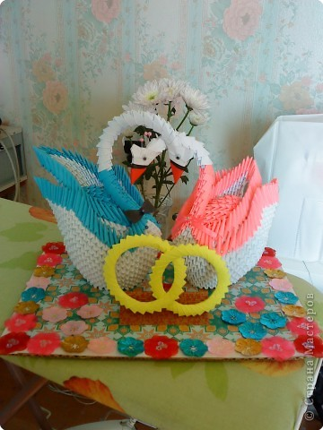 Оригами модульное: Подарок на свадьбу фото 1