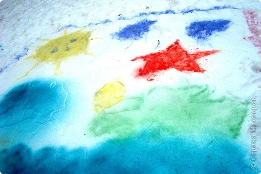 Рисунки на снегу фото 4
