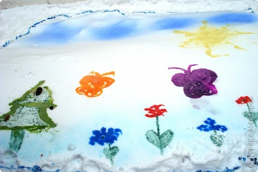 Рисунки на снегу фото 5