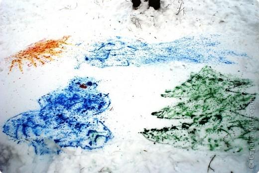 Рисунки на снегу фото 6