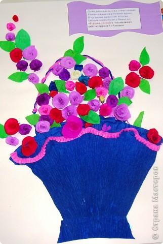 Квиллинг: Корзина с розами
