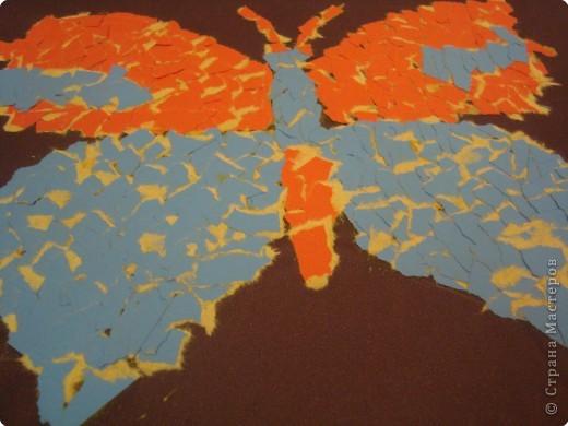 Аппликация обрывная, Мозаика: Полет бабочки