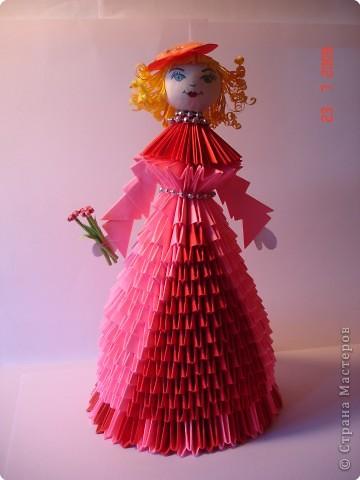 Оригами модульное: Куколка в подарок фото 1