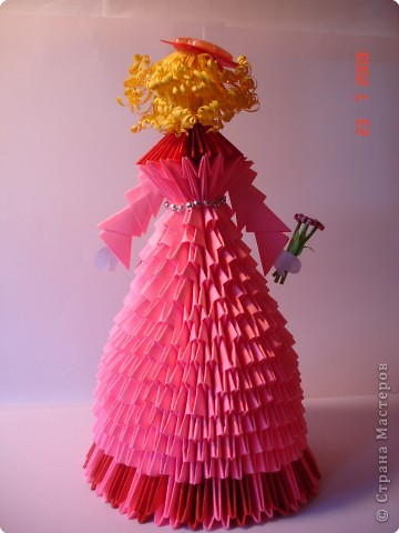 Оригами модульное: Куколка в подарок фото 2