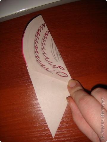 Как и обещала, последовательность выполнения сердечка с цветком:   фото 4