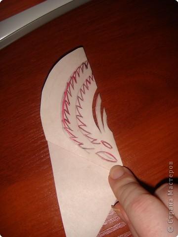 Как и обещала, последовательность выполнения сердечка с цветком:   фото 5
