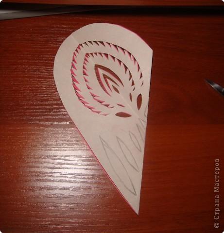 Как и обещала, последовательность выполнения сердечка с цветком:   фото 7