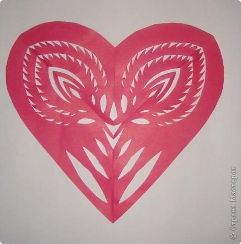 Как и обещала, последовательность выполнения сердечка с цветком:   фото 1