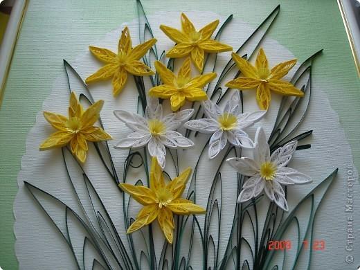 Квиллинг: Нарциссы фото 2