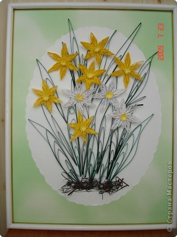 Квиллинг: Нарциссы фото 1