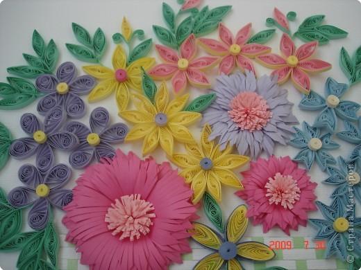 Квиллинг: Цветы в корзинке фото 2