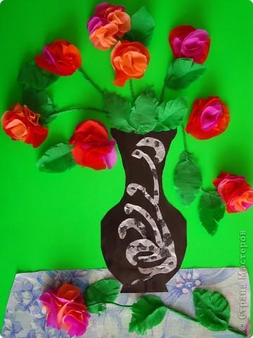 """Цветы в вазе для бабушки""."