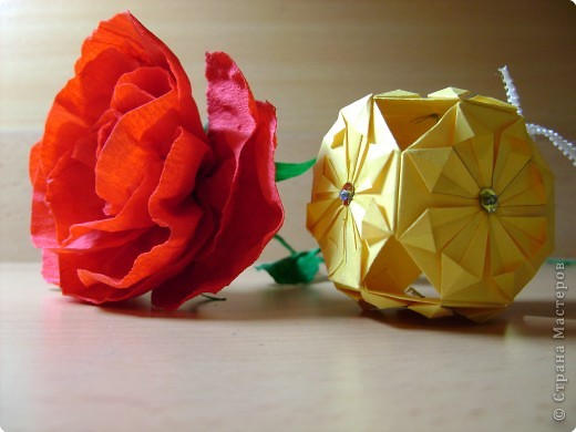 Кусудама, Моделирование: Пион или роза? фото 2