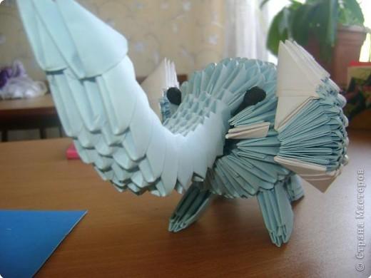 Оригами модульное: слоник фото 3