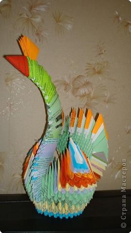 Оригами модульное: ПТИЧКА фото 1