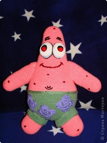 Вязание крючком: Патрик - лучший друг Спанч Боба. фото 1