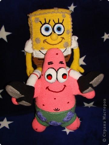 Вязание крючком: Патрик - лучший друг Спанч Боба. фото 3