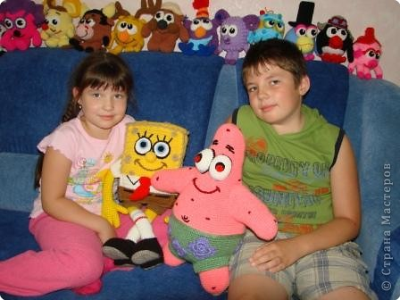 Вязание крючком: Патрик - лучший друг Спанч Боба. фото 4