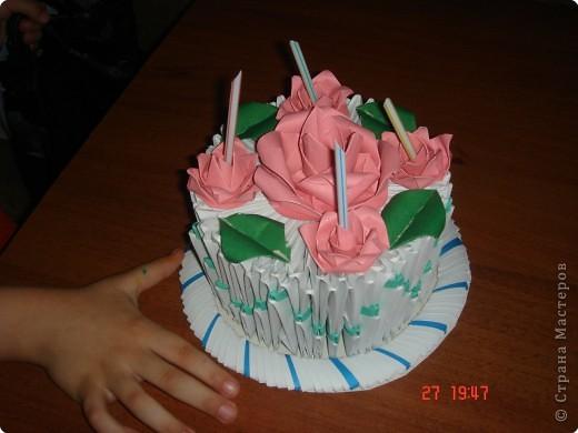 Оригами модульное: TORT BIRTHDAY