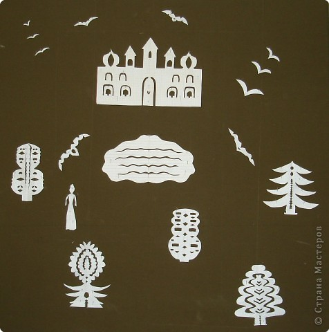 Вырезание симметричное, Вытынанка: Иллюстрации к сказкам Андерсена. фото 4