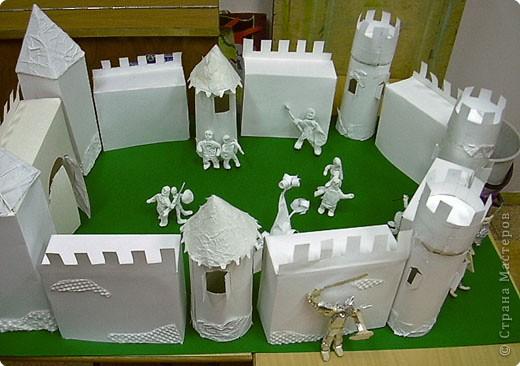Замок из бумаги сделать
