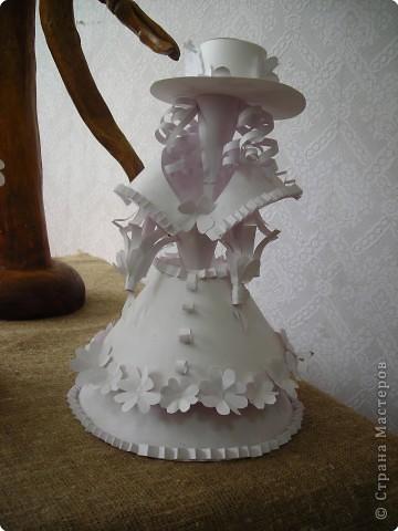 Бумагопластика: Кукла бумажная