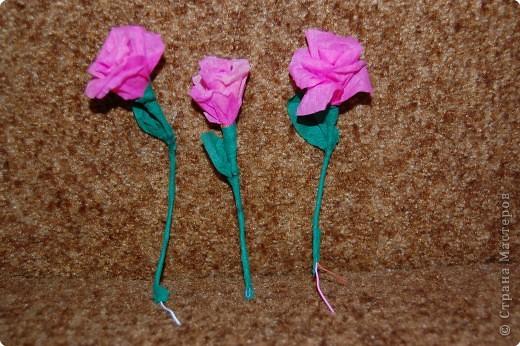 голубая роза из салфеток фото 2