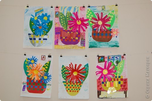 Аппликация.Техника плетения.Работы выполнены учениками 10-11 лет. фото 2