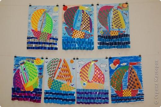 Аппликация.Техника плетения.Работы выполнены учениками 10-11 лет. фото 1