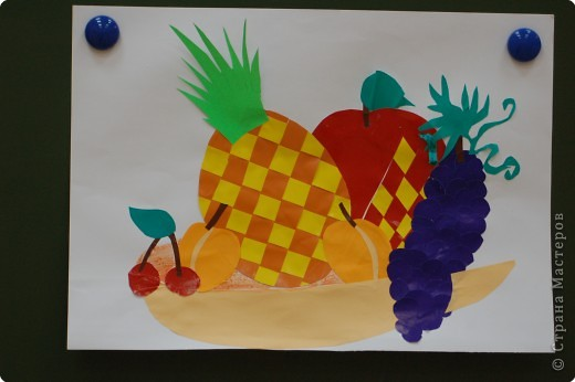 Аппликация.Техника плетения.Работы выполнены учениками 10-11 лет. фото 3