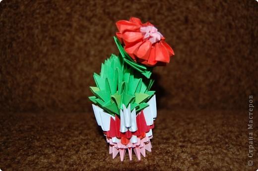 Оригами модульное: кактусенок малыш