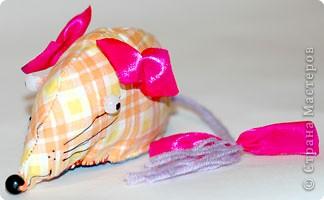 Игрушка мягкая: Мышь клетчатая фото 2
