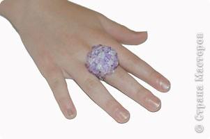 Бисероплетение: Гламурное кольцо фото 1
